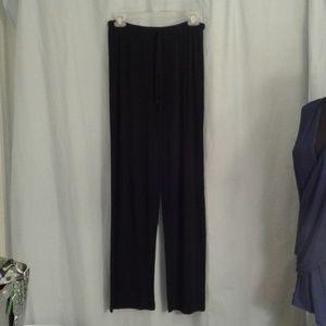 Chico's 1 slinky stretchy pants black M 8